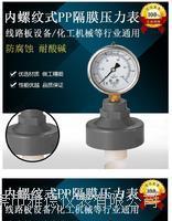 60径向不锈钢PP隔膜式压力表内螺纹式不锈钢PP隔膜压力表