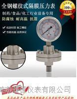 YTP-60全不锈钢螺纹式隔膜压力表耐腐蚀耐高温不锈钢隔膜压力表