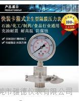 60MM径向不锈钢卡箍式卫生型隔膜压力表卡箍式隔膜压力表