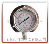 60MM径向带后边全钢压力表不锈钢压力表