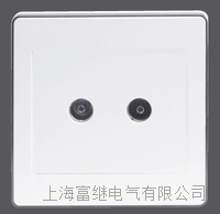 JCCZ-TV-1/2-1A二位电视插座 JCCZ-TV-1/2-1AM