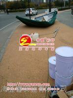 透水胶粘石,天然卵石地坪,透水胶彩石路面 WDO102