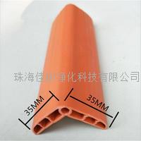 软质环保PVC防撞条批发  学校墙角多孔型防护角图片 DK350防撞条