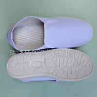 珠海白色帆布防静电鞋厂家 SPU底无尘工作鞋订做 帆布SPU中跟鞋