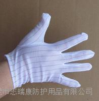 东莞防静电手套生产厂家 工业条纹防静电手套 9寸圆包边防静电手套
