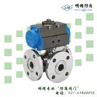 气动三通球阀 SMQ644(45)型