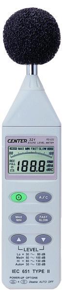 噪音計CENTER321 CENTER 321