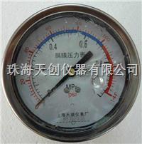 Y-100MC卡箍式轴向卫生型隔膜压力表 Y-100MC