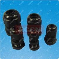 厂家直销,日成PG型防水接头尼龙接头,耐酸,黑色长螺纹电缆接头 PG型