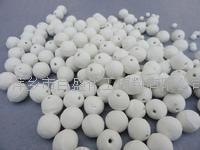 氧化铝开孔瓷球高纯瓷球蓄热球支撑球工业瓷球  3-6MM