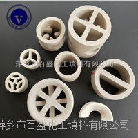 萍鄉百盛陶瓷散堆塔填料(鮑爾環、拉西環、矩鞍環、異鞍環等) 瓷環