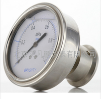 卫生隔膜不锈钢径向压力表 PYTHN-063.AO.513.B090.F6