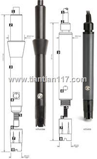 意大利HANNA 内置温度传感器极谱溶氧电极 HI76407/HI76408/HI76409