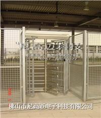 不锈钢栅栏回转门、银行特殊通道专用人脸识别全高转闸、南京三翼120度滚闸门 NGM-Q01-2