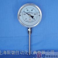 不锈钢耐震双金属温度计WSSN-411充油型温度计 WSSN-411