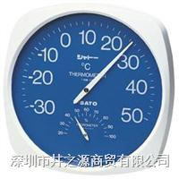 1013-00日本SATO表盘温湿度仪,指针式温湿度表,佐藤温湿度计,温湿度仪 1013-00