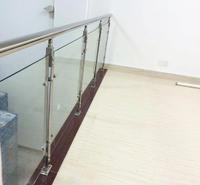 戴南家用装饰不锈钢护栏 挂玻璃不锈钢立柱 防锈304
