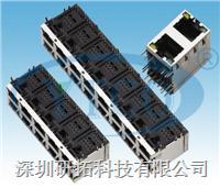 RJ45网络插座双层带灯 6059-8P8CXXRXXX1210