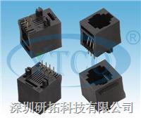 RJ45网络插座全塑180°插板型 6052-8P8CXXSXXX00X0