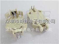 CR2032-6白色插脚电池座