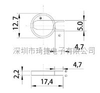 宽温电池CR1220激光焊脚