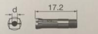 中西NSK高精密夹头CHC-3.175编码90493打磨机专用夹头IC-300/KC-300/EIC-300/EKC-300 CHC-3.175