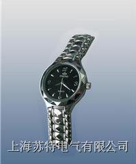 (雙日歷不銹鋼)石英手表式近電報警器 WBF