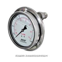 耐振型轴向安装隔膜压力表 PT124Y-625
