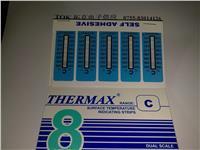 THERMAX8格C型温度试纸 测温纸 测温变色纸  英国TMC感温变色纸 8格C型