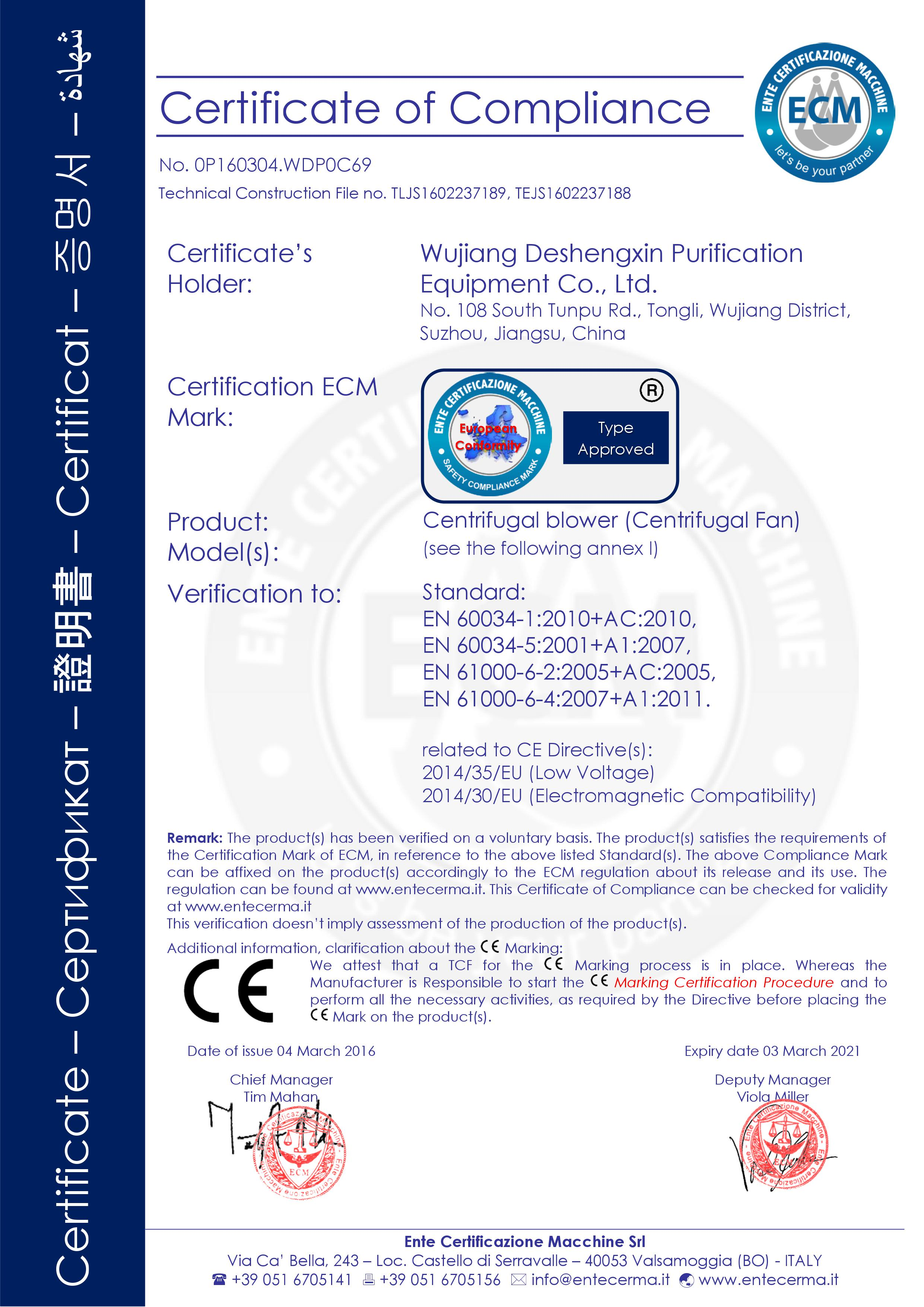 Ce certification for blower 1betcityfo Choice Image
