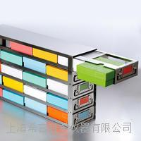 侧取式设计更利于冻存盒侧面信息标记和冻存盒快速取用 侧取式抽屉型冻存架99-5216 99-5216