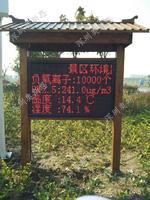 南宁森林湿地公园负氧离子pm2.5温度湿度监测发布系统