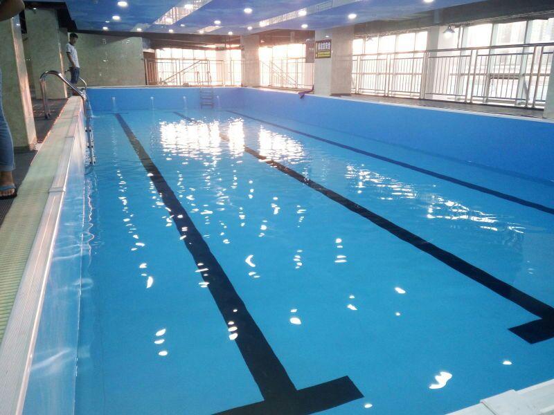 湖州健身房游泳池建造,钢结构拼装式游泳池