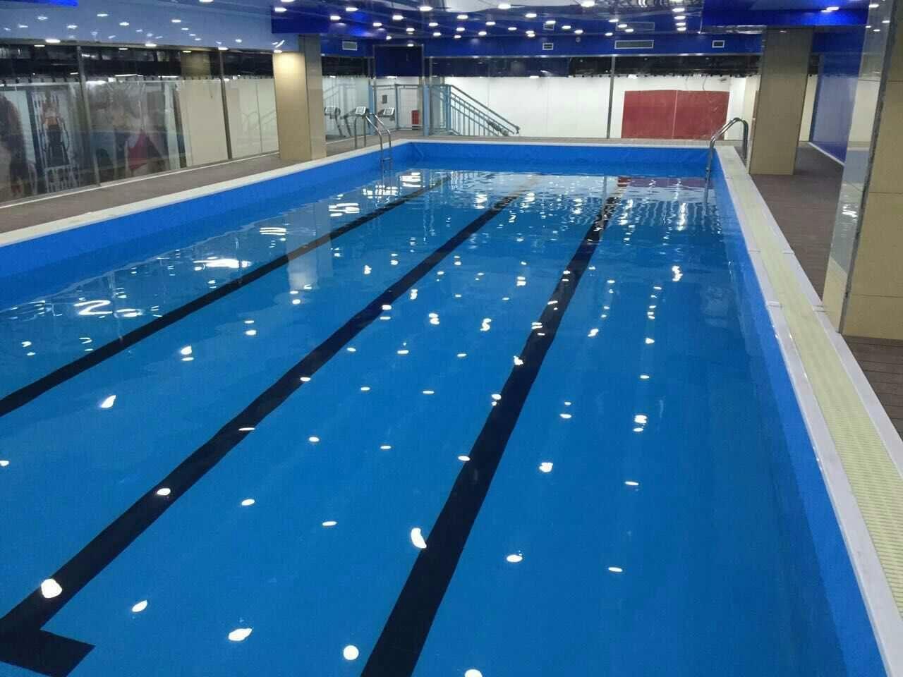 菏泽健身房游泳池建造,钢结构拼装式游泳池
