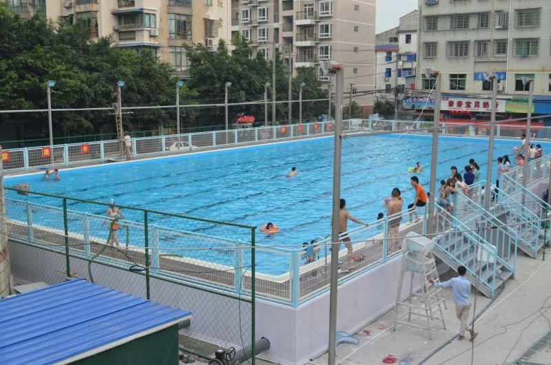 达州健身房游泳池建造,钢结构拼装式游泳池