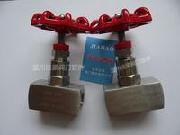 精品J13W-16/25/32/40/160P ZG1/2-M20*1.5不锈钢压力仪表针型阀门 J13W-160P J13W-320P JJM1-160P
