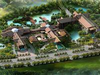 酒店园林ope手机版设计—老挝度假酒店