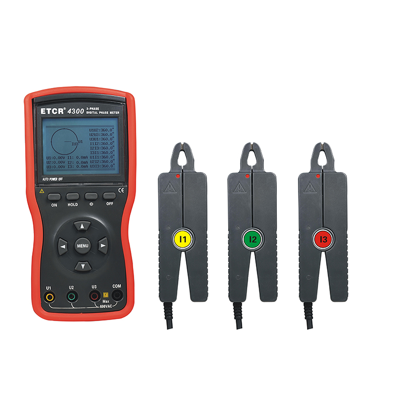 ETCR4300 Three Phase Digital Phase Volt-Ampere Meter