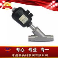焊接式气动角座阀 Y661W