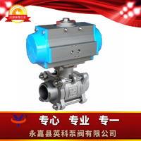 焊接式气动三片式球阀 Q661F