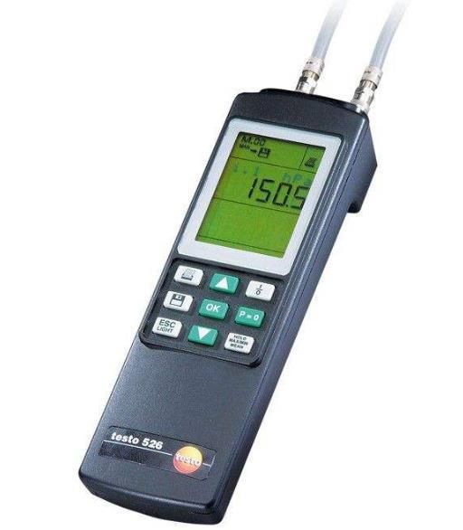 testo 526-1工业级差压测量仪 0~2000 hPa, +/-0.1%精度差压计