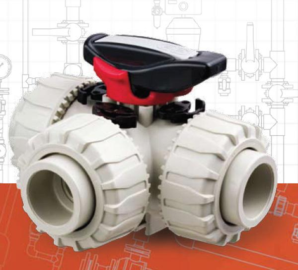 全活接设计:非常方便将阀体三个连接点从系统中分离  ●t型球阀(可图片