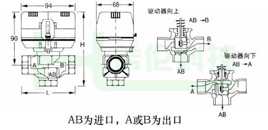 罗托克电动阀端子接线图