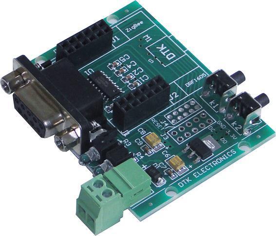 cc2530 zigbee模块- rs232底板 drf1605-rs232a