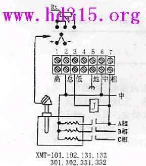 数显式温度控制调节仪 型号:gw32- xmt-102(现货优势)