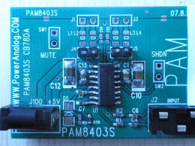 音频功率放大器 pam8403
