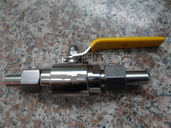 不锈钢q21f-160p对焊式外螺纹活接仪表球阀 304焊接气源管高压球阀图片