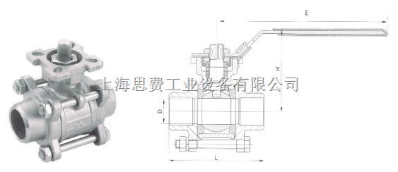 江森三片式焊接球阀(高平台) 三片式焊接球阀(高平台)图片