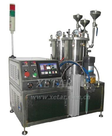 dual liquid glue-pouring machine