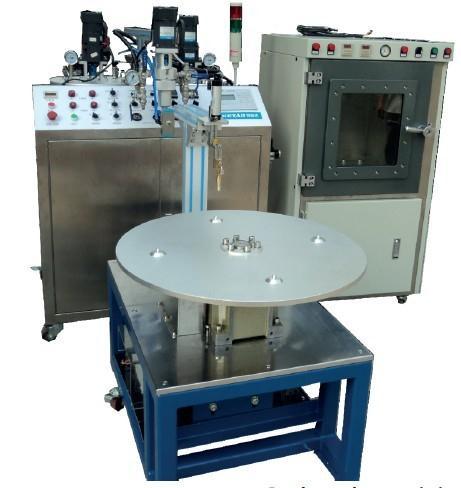 Automatic chamber encapsulating compound machine